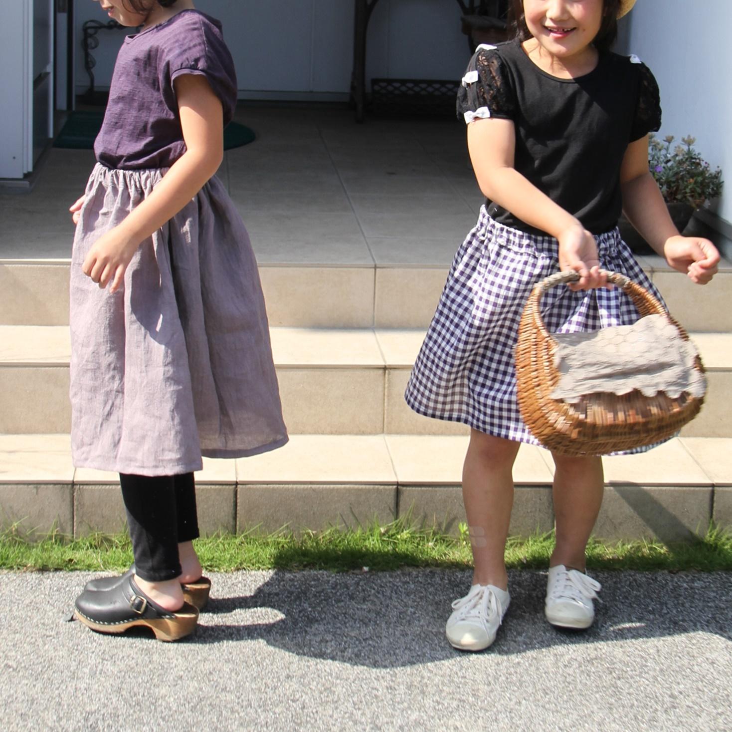 子どもスカート二人4