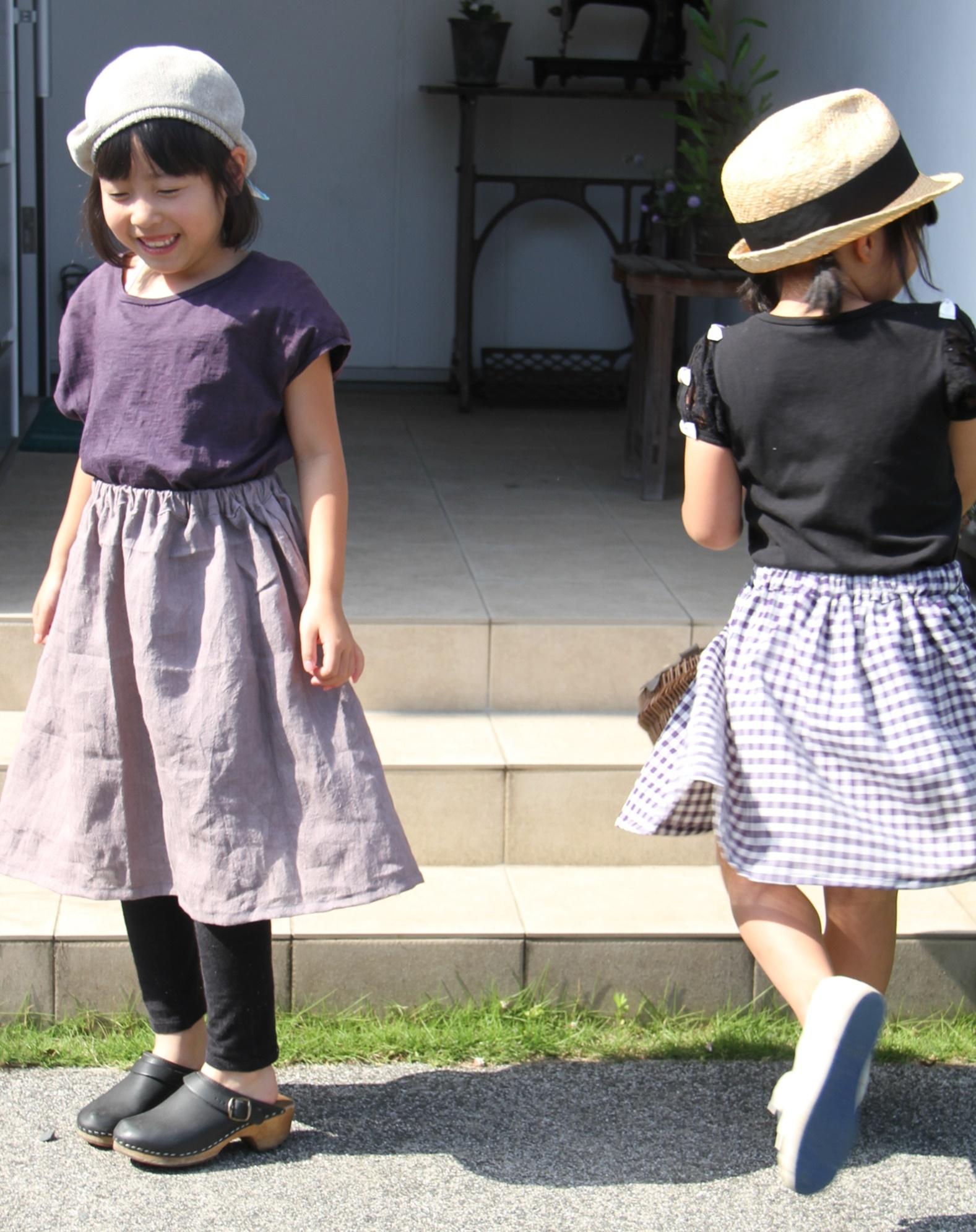 子どもスカート二人2